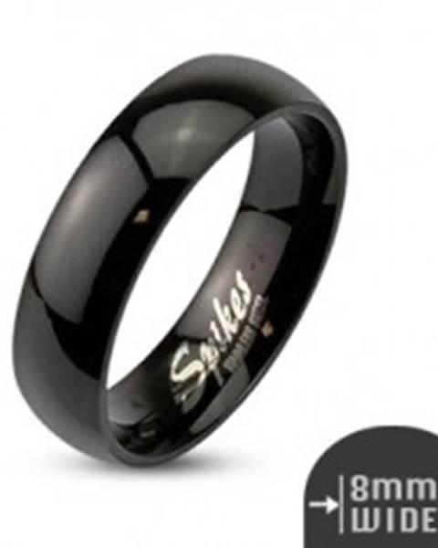 Oceľová obrúčka čiernej farby, lesklý a hladký povrch, 8 mm SP52.05 - Veľkosť: 59 mm