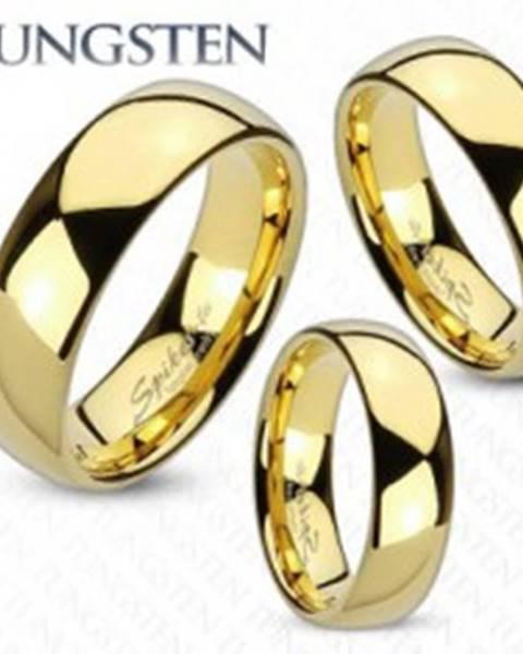 Tungstenová obrúčka zlatej farby, lesklý a hladký povrch, 6 mm Z39.7 - Veľkosť: 49 mm