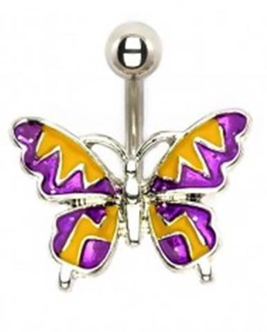 Oceľový piercing - letný motýľ  I9.25