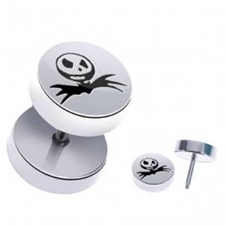 Fake piercing z ocele - halloweensky motív, lebka