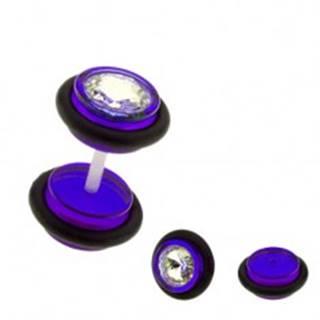 Falošný plug do ucha UV - farebné kolieska, zirkón AC8.20 - Farba piercing: Červená