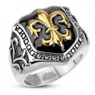 Prsteň z chirurgickej ocele - kráľovský znak, štít K15.9/K15.10 - Veľkosť: 57 mm
