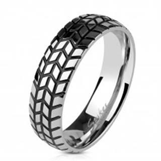 Oceľová obrúčka striebornej farby, štrukturovaný dezén pneumatiky, 6 mm - Veľkosť: 60 mm
