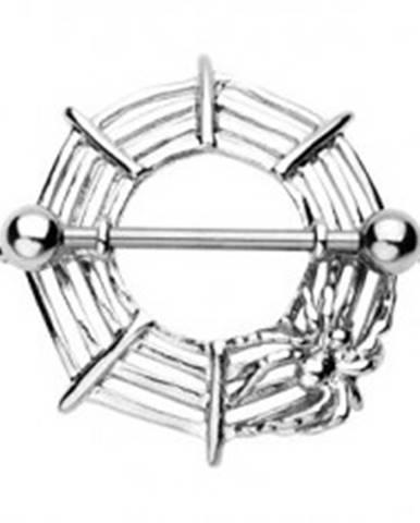Piercing bradavky pavúčia sieť s pavúkom - 2 kusy C11.8