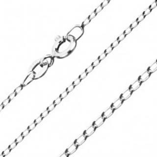 Retiazka zo striebra 925 - hladké podlhovasté očká, šírka 1 mm, dĺžka 455 mm