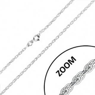 Strieborná retiazka 925 - jemné zatočené očká, 1,9 mm