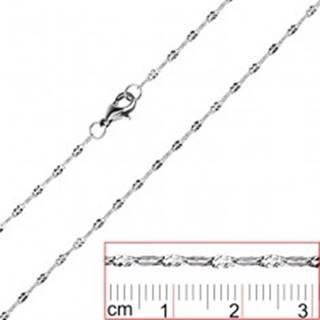 Oceľová retiazka - sploštené očká so zárezmi X