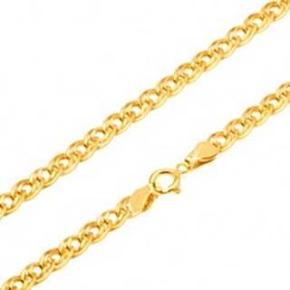 Zlatá retiazka 585 - trblietavé elipsovité väčšie a menšie očko, 500 mm