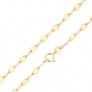 Zlatá retiazka 585 - hladké podlhovasté články s obdĺžnikom, rôzne dĺžky - Dĺžka: 500 mm