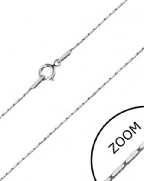 Retiazka v bielom zlate 585 - obdĺžnikové články, hranatá retiazka, 450 mm