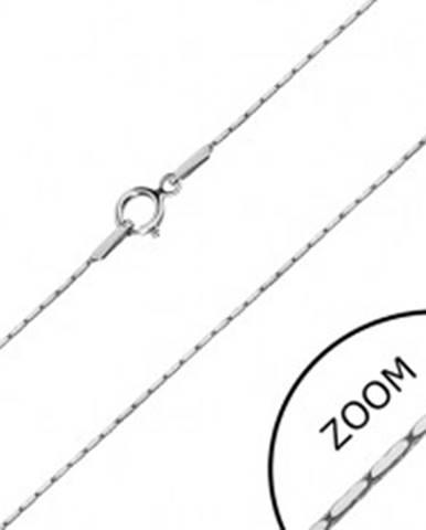 Retiazka v bielom 14K zlate - obdĺžnikové články, hranatá retiazka, 500 mm GG30.17