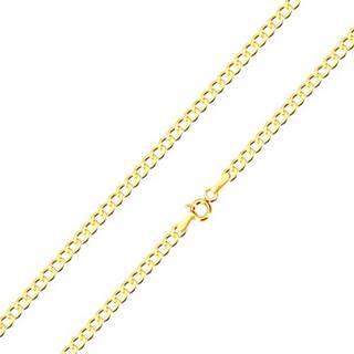 Retiazka zo žltého zlata 375 - jemne skosené šesťuholníkové očká, 500 mm
