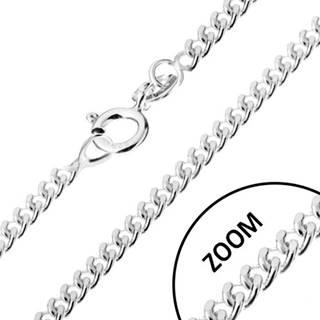 Strieborná 925 retiazka, zatočené okrúhle očká, šírka 1,4 mm, dĺžka 600 mm