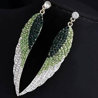 Náušnice Crystal Wings - Zelená