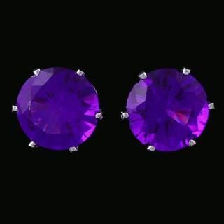 Náušnice Cubic - Fialová