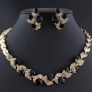 Set Crystal Branch-Zlatá/Čierna