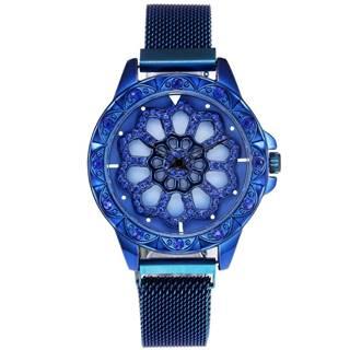 Magnetické Hodinky Flowers-Modrá