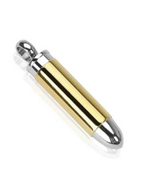Prívesok z ocele náboj strieborno-zlatej farby