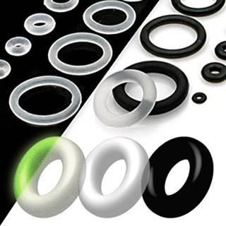 Náhradné krúžky na piercingy - Priemer: 1 mm, Farba: Čierna