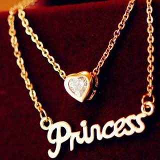 Náhrdelník Love Princess-Zlatá