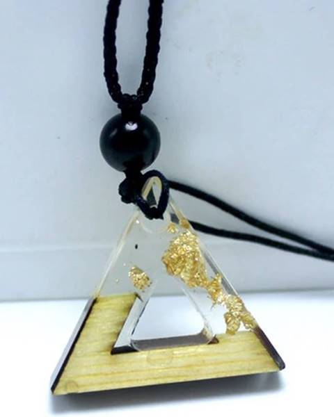 Náhrdelník Triangle Resin-Zlatá